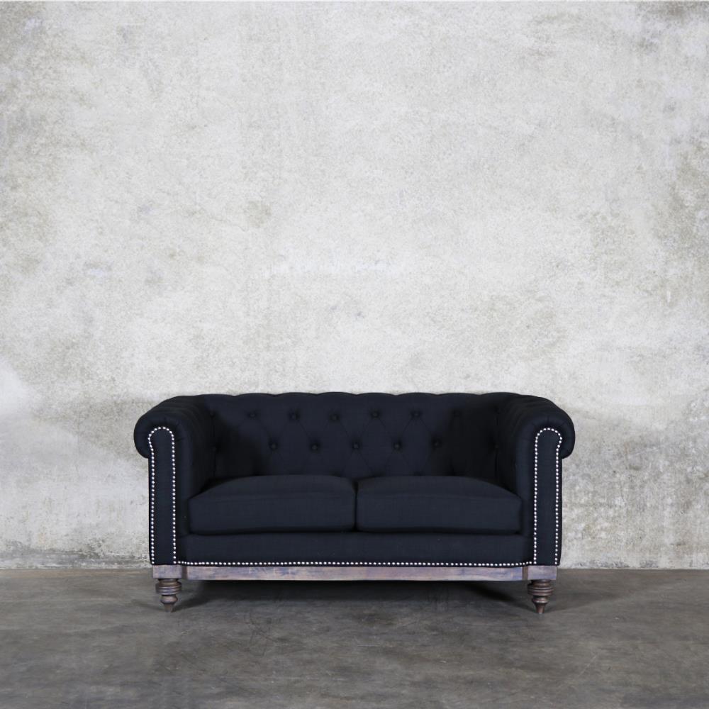 Royal Chesterfield sofa (black)