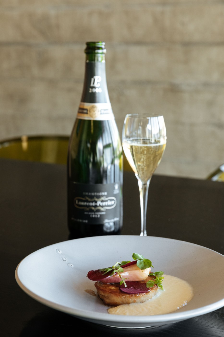 Bottle of champagne with dessert - Queenstown dining | One Fine Day