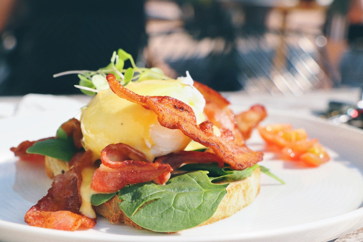 Image of eggs benedict breakfast dish from Odelay - Queenstown Dining