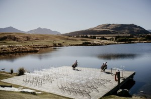 Pontoon overlooking Lake Tewa near Jacks Point Clubhouse | One Fine Day