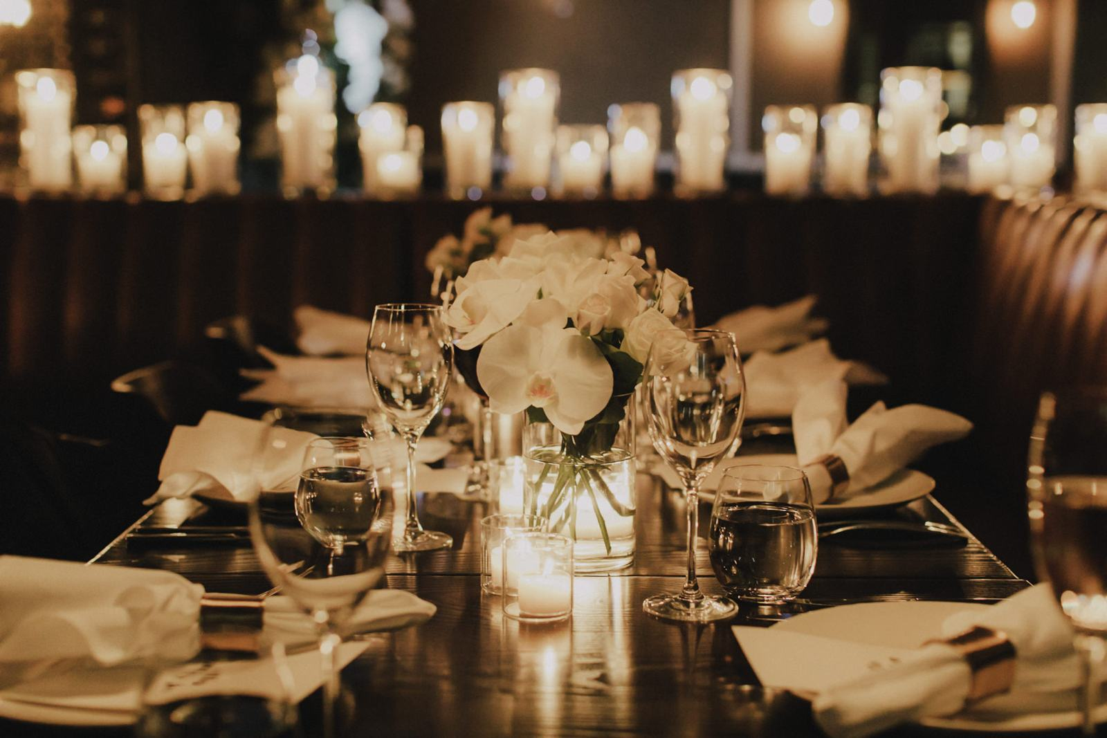 Styled Wedding Reception Dinner Table