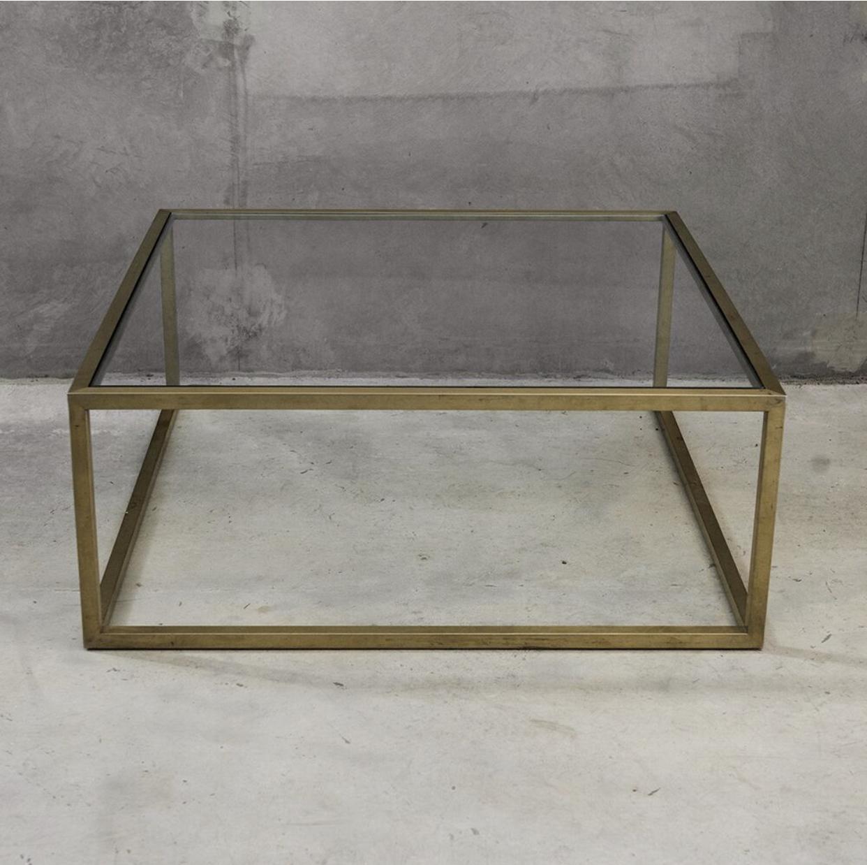 Brass Glass Coffee Table One Fine Day