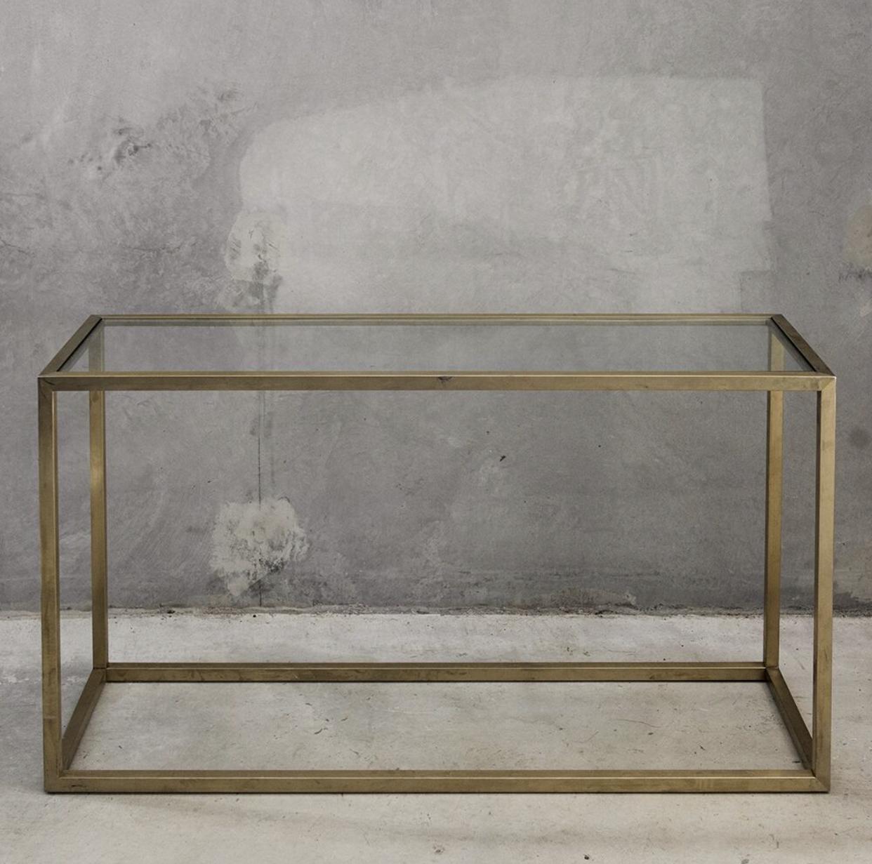 Brass + glass console