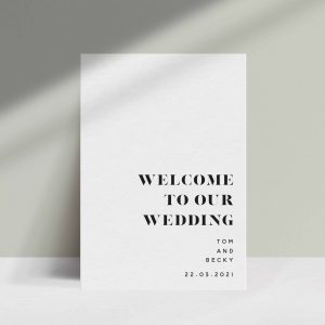 Signage Collection B+W - Shop Wedding gifts, packages and planning tools from One Fine Day