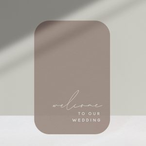 Signage Collection Taupe - Shop Wedding gifts, packages and planning tools from One Fine Day